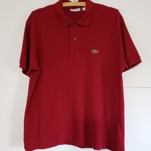 LACOSTE MENS MAROON POLO SIZE L